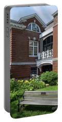 Portable Battery Charger featuring the photograph Merrill Memorial Library, Yarmouth, Maine #60140 by John Bald