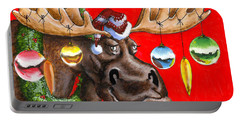 Merry Chris Moose Portable Battery Charger