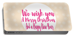 Merry Christmas Art Portable Battery Charger