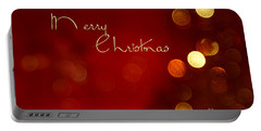 Merry Christmas Card - Bokeh Portable Battery Charger