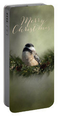 Merry Christmas Chicadee 1 Portable Battery Charger