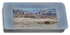 Merry Christmas From Wyoming Portable Battery Charger by Dawn Senior-Trask