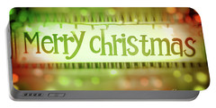 Merry Christmas Greeting Card Portable Battery Charger