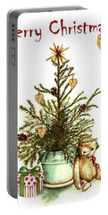 Portable Battery Charger featuring the painting Merry Christmas by Heidi Kriel