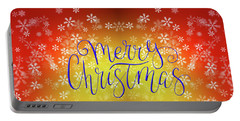 Merry Christmas On Stars Portable Battery Charger