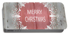 Merry Christmas Stencil Portable Battery Charger