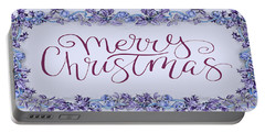 Merry Christmas Wreath Art I Portable Battery Charger