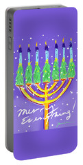 Portable Battery Charger featuring the painting Merry Everything by Jean Pacheco Ravinski