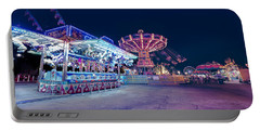 Portable Battery Charger featuring the photograph Merry Go Creepy by JD Mims