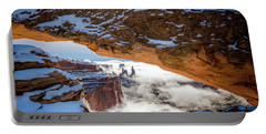 Mesa Arch In The Snow Portable Battery Charger