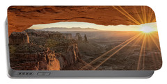 Mesa Arch Sunrise 4 - Canyonlands National Park - Moab Utah Portable Battery Charger