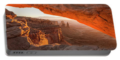 Mesa Arch Sunrise 5 - Canyonlands National Park - Moab Utah Portable Battery Charger