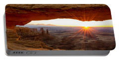 Mesa Arch Sunrise - Canyonlands National Park - Moab Utah Portable Battery Charger