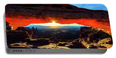 Portable Battery Charger featuring the photograph Mesa Arch Sunrise by John Hight