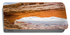 Mesa Arch Sunrise Portable Battery Charger by JR Photography