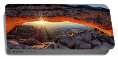 Mesa Arch Sunburst By Olena Art Portable Battery Charger