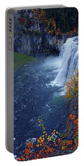 Mesa Falls In The Fall Portable Battery Charger