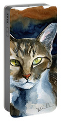 Mesmerizing Eyes - Tabby Cat Painting Portable Battery Charger