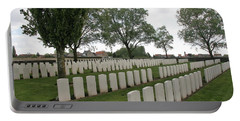 Portable Battery Charger featuring the photograph Messines Ridge British Cemetery by Travel Pics