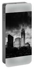 Portable Battery Charger featuring the photograph Met-life Tower by Marvin Spates