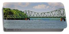 Metal Bridge Over A Lake Portable Battery Charger