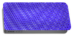 Metal Panel Blue Abstract Portable Battery Charger by Tom Janca