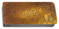 Metallic Gold Web Abstract Portable Battery Charger