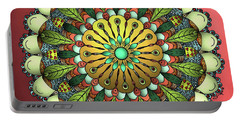 Metallic Mandala Portable Battery Charger