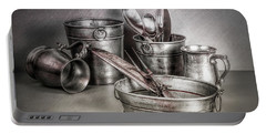 Metalware Still Life Portable Battery Charger