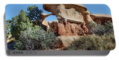 Portable Battery Charger featuring the photograph Metate Arch - Devils Garden by Nikolyn McDonald