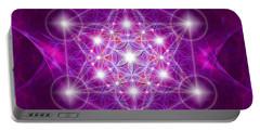Metatron Cube Mandala Portable Battery Charger