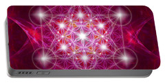 Metatron Cube With Flower Portable Battery Charger