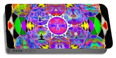 Portable Battery Charger featuring the digital art Metatron's Cosmic Ascension by Derek Gedney