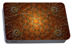 Portable Battery Charger featuring the digital art Metatron's Cube Inflower Of Life by Alexa Szlavics