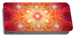 Metatron's Cube Light Portable Battery Charger
