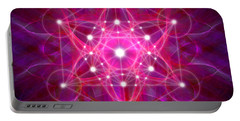 Metatron's Cube Reflection Portable Battery Charger
