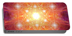 Metatron's Cube Shiny Portable Battery Charger