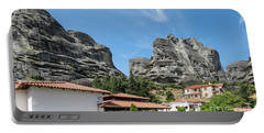 Portable Battery Charger featuring the photograph Meteora In Greece by Arik Baltinester