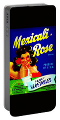 Portable Battery Charger featuring the photograph Mexicali Rose Vintage Vegetable Crate Label by Peter Gumaer Ogden
