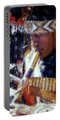 Portable Battery Charger featuring the photograph Mexican Street Musician by Lori Seaman
