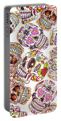 Mexican Sugar Skulls Portable Battery Charger