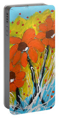 Mexican Sunflowers Flower Garden Portable Battery Charger