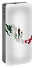 Mexico Typographic Map Flag Portable Battery Charger