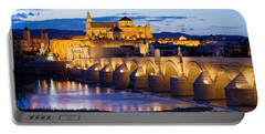 Cathedral Mosque And Roman Bridge In Cordoba Portable Battery Charger