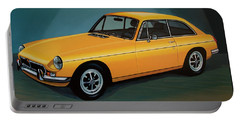 Mgb Gt 1966 Painting  Portable Battery Charger by Paul Meijering