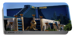 Mgm Grand Hotel Casino Portable Battery Charger by Mariola Bitner