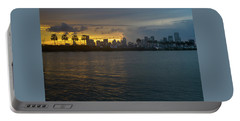 Miami At The Edge Of Twilight Portable Battery Charger