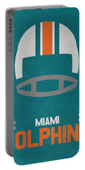 Miami Dolphins Vintage Art Portable Battery Charger