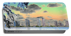 Miami Skyline Abstract Portable Battery Charger