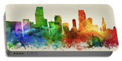 Miami Skyline Panorama Usflmi-pa03 Portable Battery Charger
